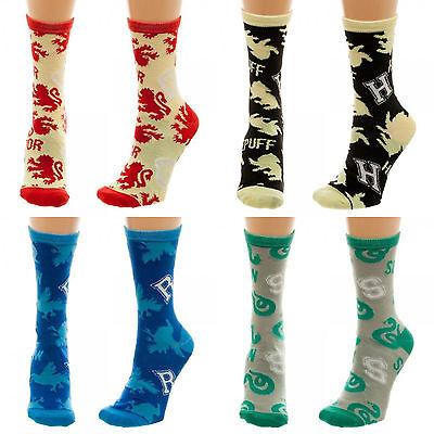 Harry Potter Movie Slytherin, Gryffindor, Raven Claw, Hufflepuff Crew Socks - Hufflepuff Socks