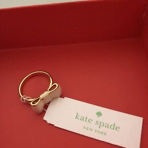 brand new with tag/box Kate Spade bow ring size 7