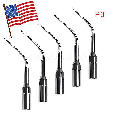 5 Pc Dental Perio Tip P3 For Ultrasonic Piezo Scaler Ems Woodpecker Handpiece