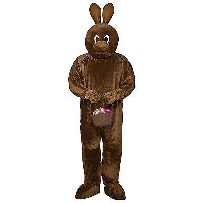 Adult Men's Chocolate Easter Brown Bunny Rabbit Spring Time Costume Jumpsuit - Men's Rabbit Costume