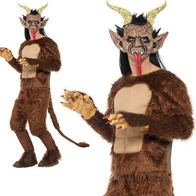 Demon Wolves Halloween (Beast Krampus Demon Wolf Halloween Costume Adult Mens Fancy Dress)