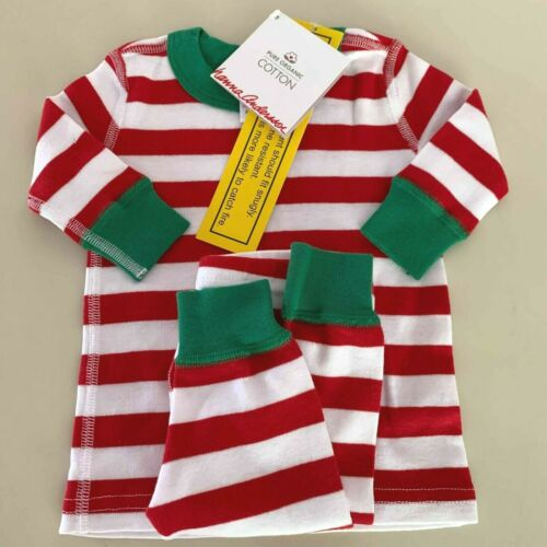 "HANNA ANDERSSON Baby Girls-Boys ""STRIPED"" Pajama Set. 0-6 months, 50 cm. Comfy!"