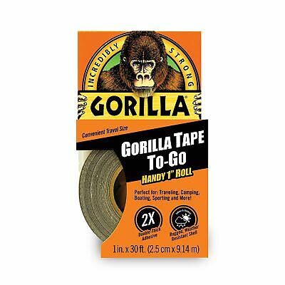 Gorilla 3044401 Tape Handy Roll 1 Pack Black Made In Usa Double-thick Adhesive