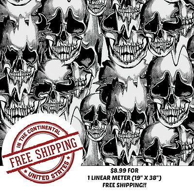 Hydrographic Water Transfer Hydrodipping Film Hydro Dip Skull 1m