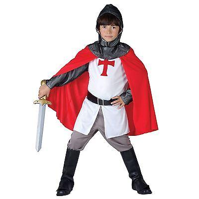 Boys Knight Costume Kids Child Crusader St George Medieval English