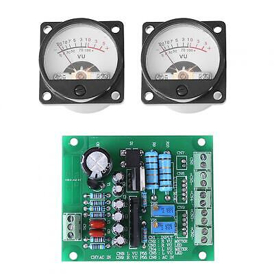2pcs Vu Meter Warm Back Light Recording Audio Level Amp With Driver Board Hot