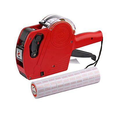 Asibt Mx5500 Eos Red 8 Digits Pricing Gun Kit With 7000 Labels Spare Ink