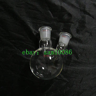 250mldouble2 Neck Round Bottom Flaskheavywalljoint2429lab Glass Flaskrbf