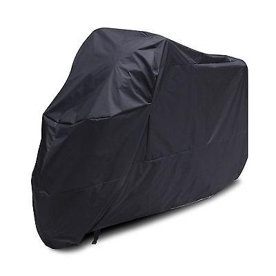 New Black Motorcycle Waterproof Outdoor Motorbike Rain Vented Bike Cover XL