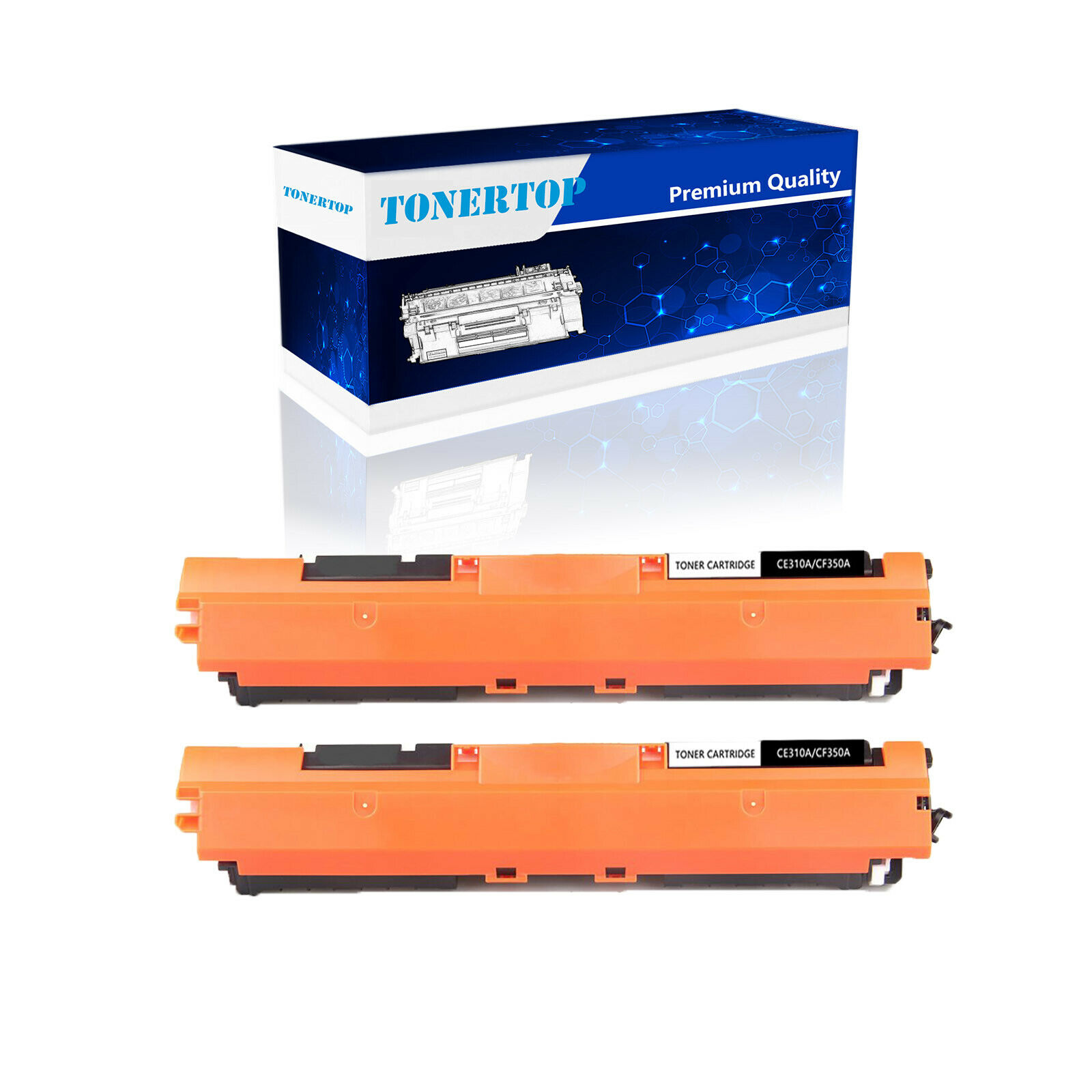 1PK CE310A Black Toner Cartridge