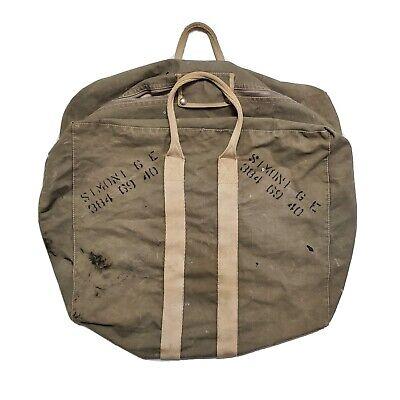 1940s Handbags and Purses History 1940s Aviators Kit Bag WW2 Vintage USA Military Canvas Naval Aircraft Factory 50 $100.00 AT vintagedancer.com