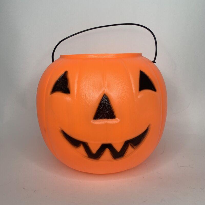 General Foam Plastics Halloween Jack-O-Lantern Pumpkin Candy Pail Tote USA Made