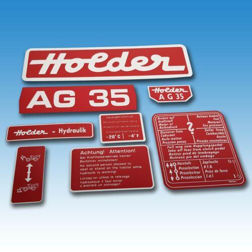 Aufkleber-Satz Holder AG 35 8-teilig Schlepper 40215609 Foto 1