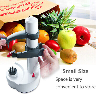 Electric Apple Peeler Vegetable Fruit Potato Kitchen Machine Cutter + Power Cord