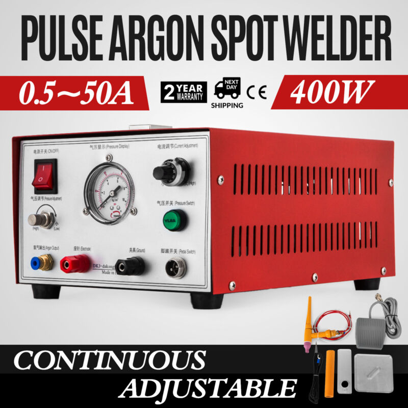 400W Pulse Argon Spot Welder Gold Silver Platinum Jewelry Welding Machine US