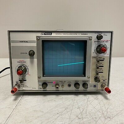 Bk Precision 10mhz Oscilloscope Model 1466a Tested And Works Great