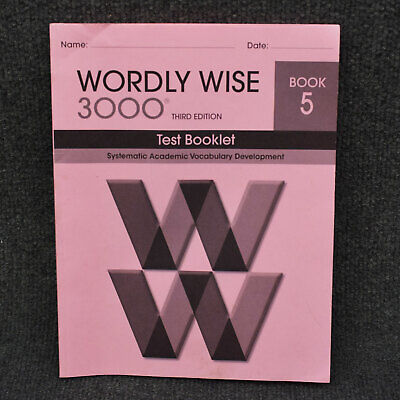 Wordly Wise 3000 Test Booklet Book 5, 3rd Edition (Answers included)