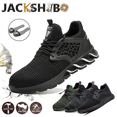 Mens Safety Shoes Work Boots Steel Toe Sneakers Hiking Waterproof Indestructible