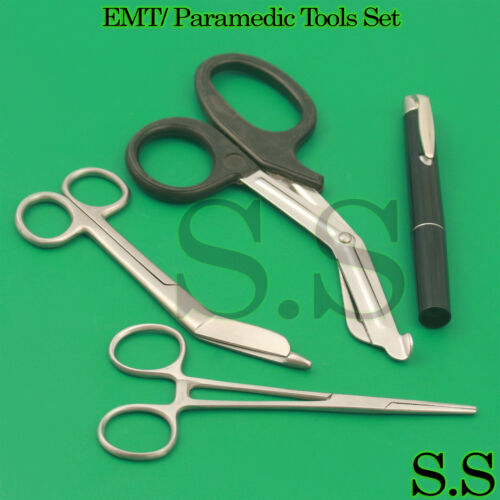 Black EMT/ Paramedic Tools Medical Bandage Scissors Shears Including Penlight