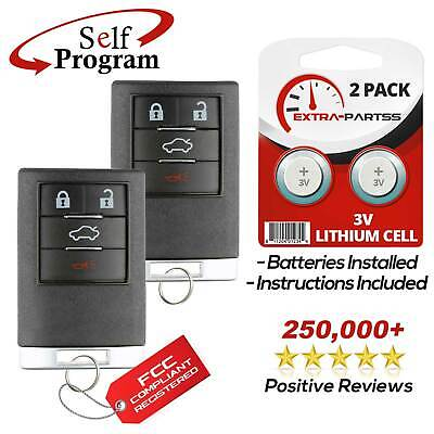 2 For 2008 2009 2010 2011 Cadillac STS Remote Keyless Entry Key Fob