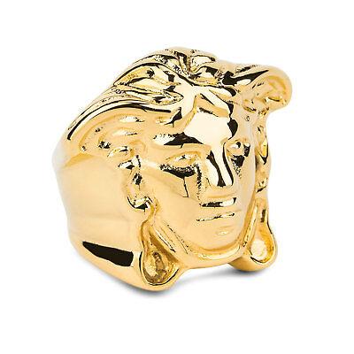 Versace Medusa Ring Men's Hip Hop Brass Gold plated Heavy Size US 9 EU19