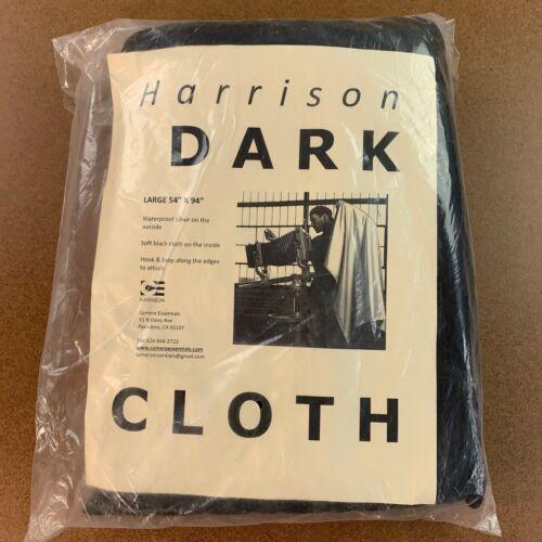 "Harrison Classic Dark Cloth Large 54"" x 94"" Waterproof Silver / Soft Black"