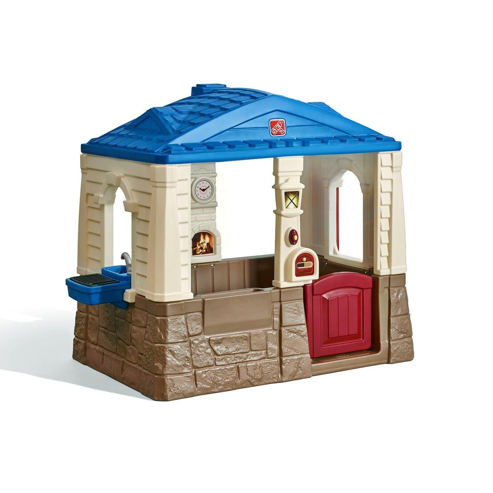 Cottage Playhouse Outdoor Kids Toy Children Plastic Backyard