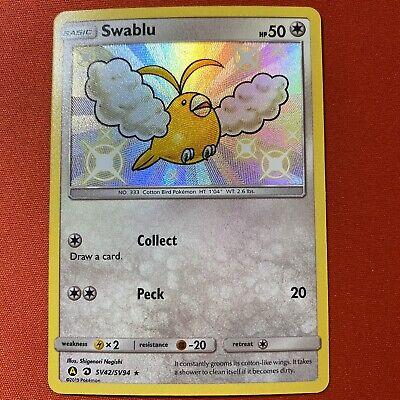 Pokemon Hidden Fates Shiny Vault Ultra Rare Holo Swablu SV42 NM/Mint
