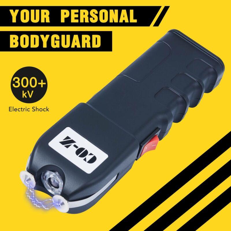 Rechargeable Self Defense Stun Gun Taser Electric Zapper LED Light Shock Plates - $14.99