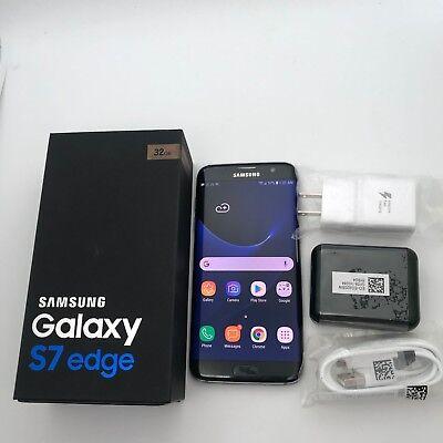 Original Factory Unlocked Samsung Galaxy S7 Edge Black G935V GSM Unlocked 4G