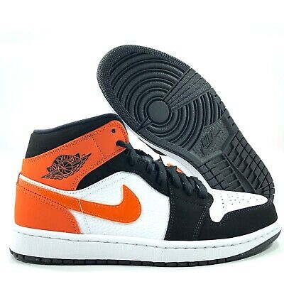 Nike Air Jordan 1 Mid SBB Shattered Black Starfish Orange White 3.5Y-9.5 Men's