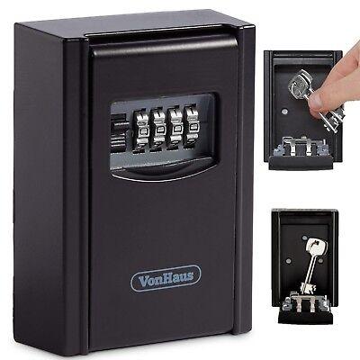 Vonhaus Key Storage Lock Box Wall Mounted Secure Key Lock Box Outdoor House Keys