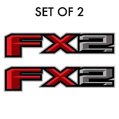 Set of 2: 2017 Ford F-150 FX2 off-road vinyl decal sticker pickup truck bedside
