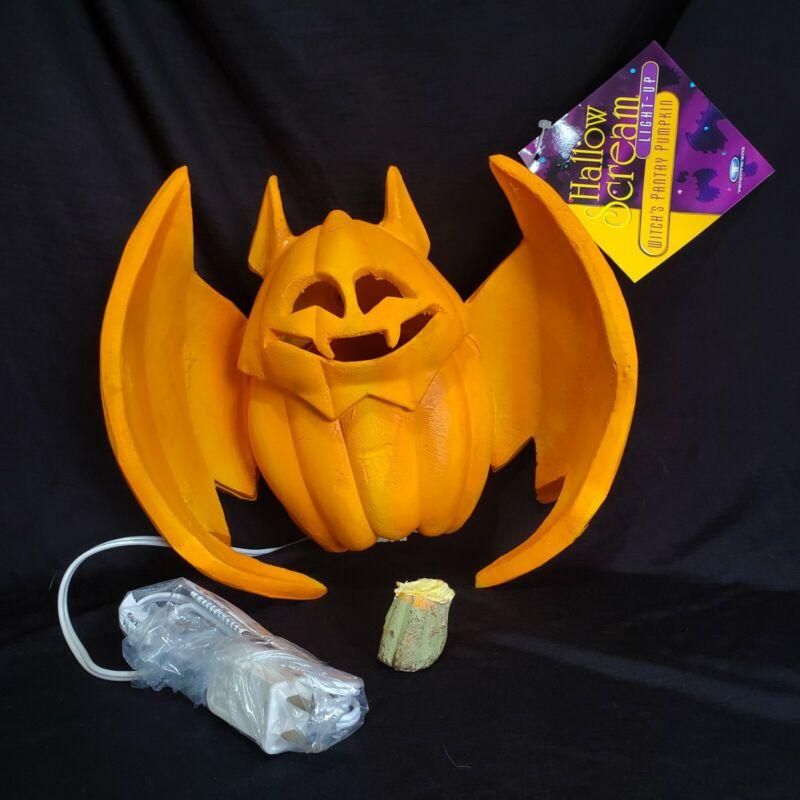 Vntage 1995 Trendmasters Halloween Bat Jack OLantern Pumpkin Lighted new flawed