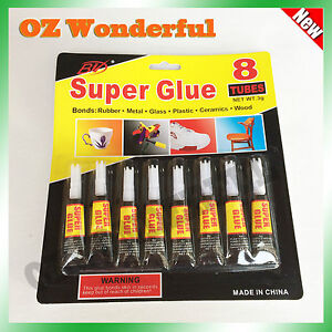 8 x 3G Super Glue for Plastic, Leather, Ceramics, Rubber, Metal, Wood Super Glue