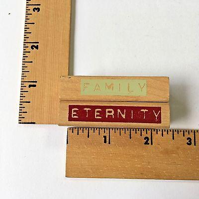 "Image Tree Rubber Stamps - EK Success Image Tree Rubber Stamps - Words ""Eternity/Family"" 2 Stamps - NEW"