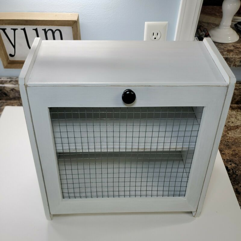 Bread Box , Farm fresh design.  Hand painted Kitchen counter storage
