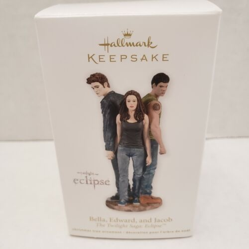 Twilight Saga Eclipse Bella Edward Jacob Keepsake Hallmark Christmas Ornaments