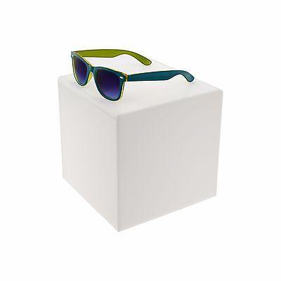 White 10 Jewelry Cube Riser Display Box 5 Sided Acrylic