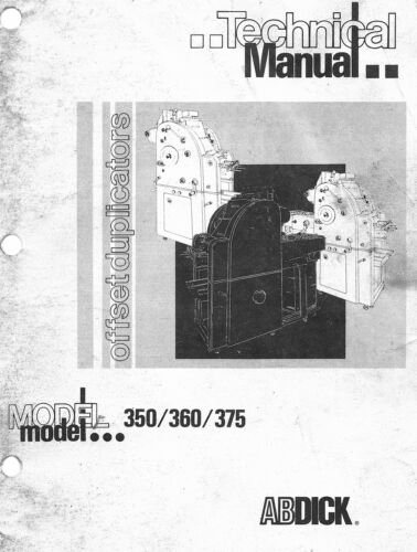 AB DICK 350 360 375  Service and Technical Manual