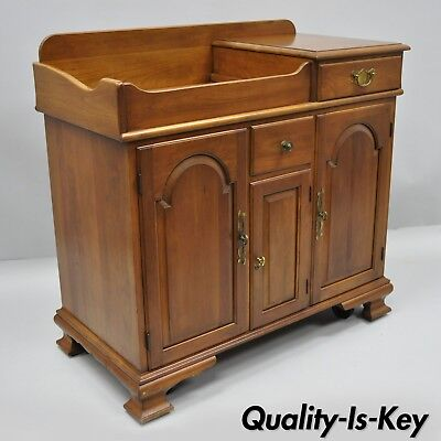 Pennsylvania House Solid Cherry Wood Colonial Drysink Dry Sink Cabinet Server