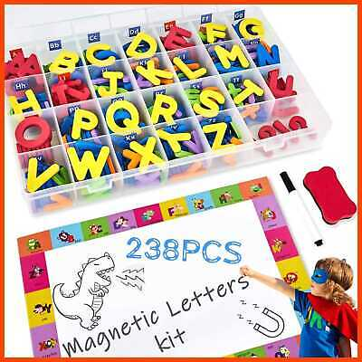 PETRIP Magnetic Alphabet Letters & Numbers 238 PCS Refrigerator ABC Magnets For