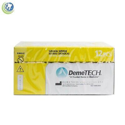Dental Surgical Sutures Plain Catgut Reverse Cutting 12pack Various Demetech