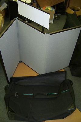 Tri Fold Display Board (downing display products 2 sided tri fold display board with sign and carry)