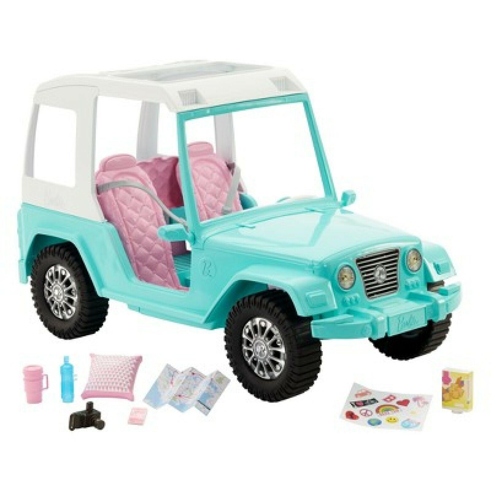 Barbie Pink Passport Jeep Vehicle Kid Toy Gift