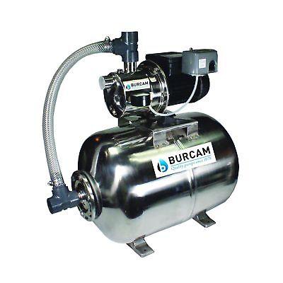 BurCam Jet Pump Tank 506538SS Ml60H 3 4HP 115 230V 900 GPH SW Stainless Steel