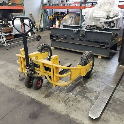 Yellow All Terrain Pallet Jack 2000 Lb Capacity - Used Very Good Condition
