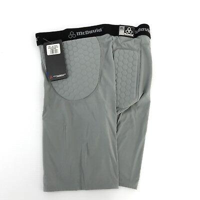 8a28030df McDavid MD 755 Men's Pro Model HexPad Padded Football Girdle Shorts Gray XL