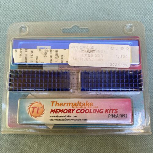 New Thermaltake Memory Cooling Kits A1092 Heatsink DDR SDRAM Instructions Vintag