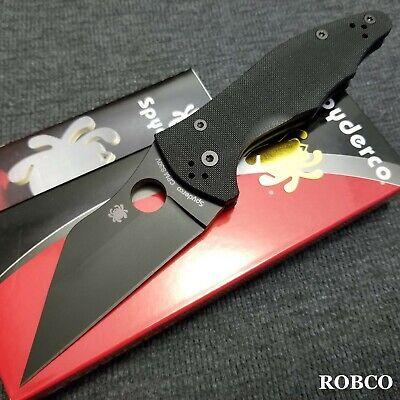 Spyderco Yojimbo 2 DLC Coated Black Blade S30V, Black G-10 Handles C85GPBBK2